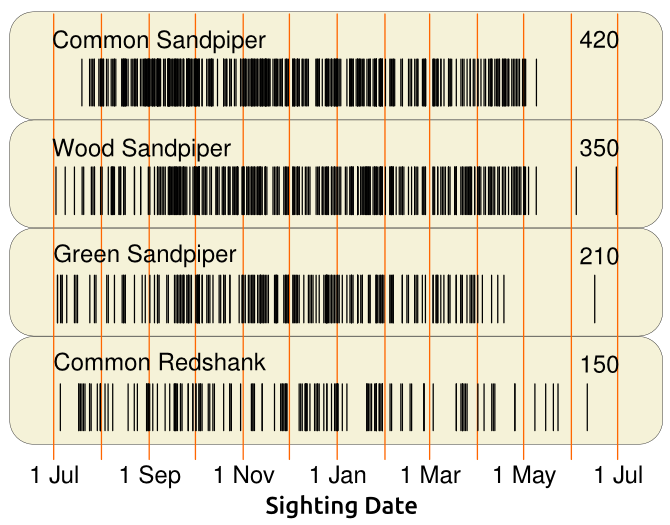 bar code - group 2- sandpipers redshank